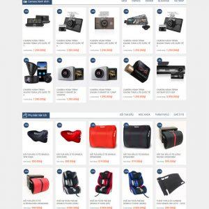 Theme Wordpress bán hàng Phụ Kiện Ô Tô, Điện Tử, camera hành trình