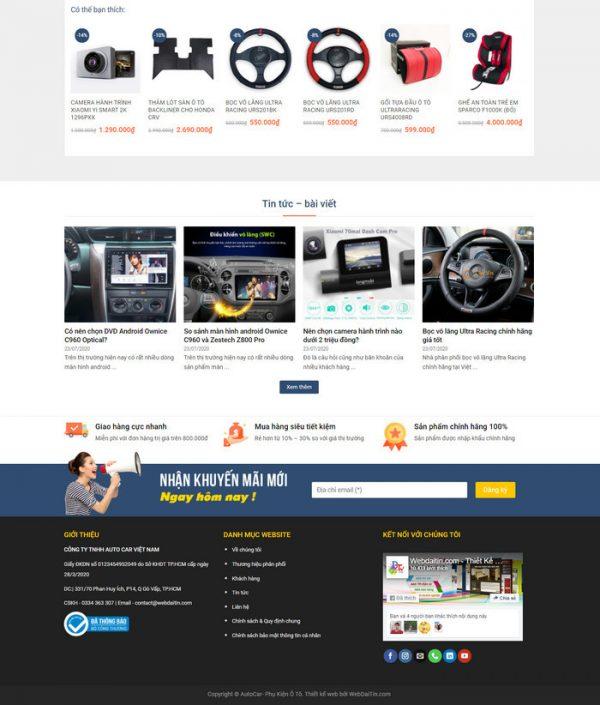 Theme Wordpress bán hàng Phụ Kiện Ô Tô, Điện Tử, camera hành trình hình 2