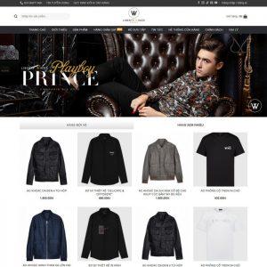 Theme Wordpress bán hàng Thời Trang, giày dép Nam