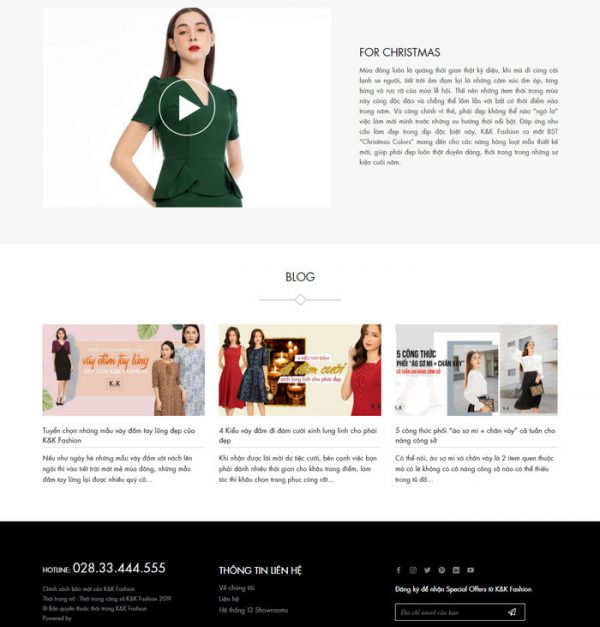 Theme Wordpress bán hàng Thời Trang Nữ hiện đại