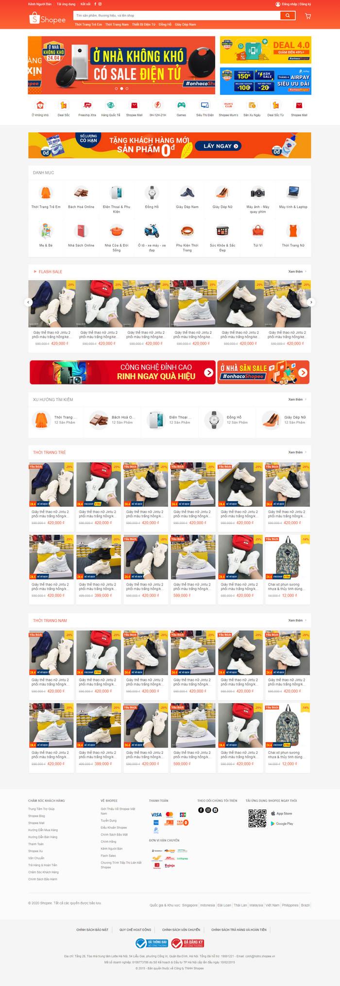 Theme WordPress bán hàng Thương Mại Điện Tử giống Shopee M140