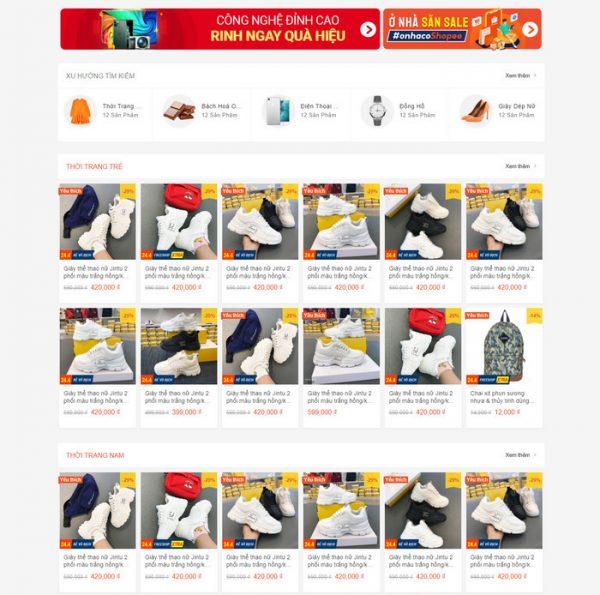 Theme Wordpress bán hàng Thương Mại Điện Tử giống Shopee M140 hình số 3