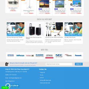 Theme Wordpress bán Máy Chiếu, Màn Hình chiếu hình 2