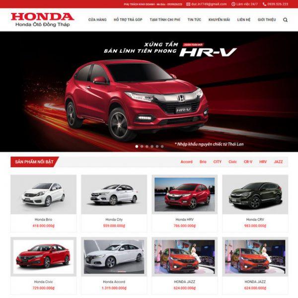 Theme Wordpress bán Ô Tô Honda M149 hình 2