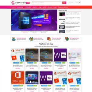 Theme Wordpress bán Phần Mềm Ứng Dụng M164 hình 2