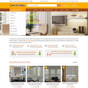 Theme Wordpress bán hàng Rèm Cửa Trang Trí M175 hình 2