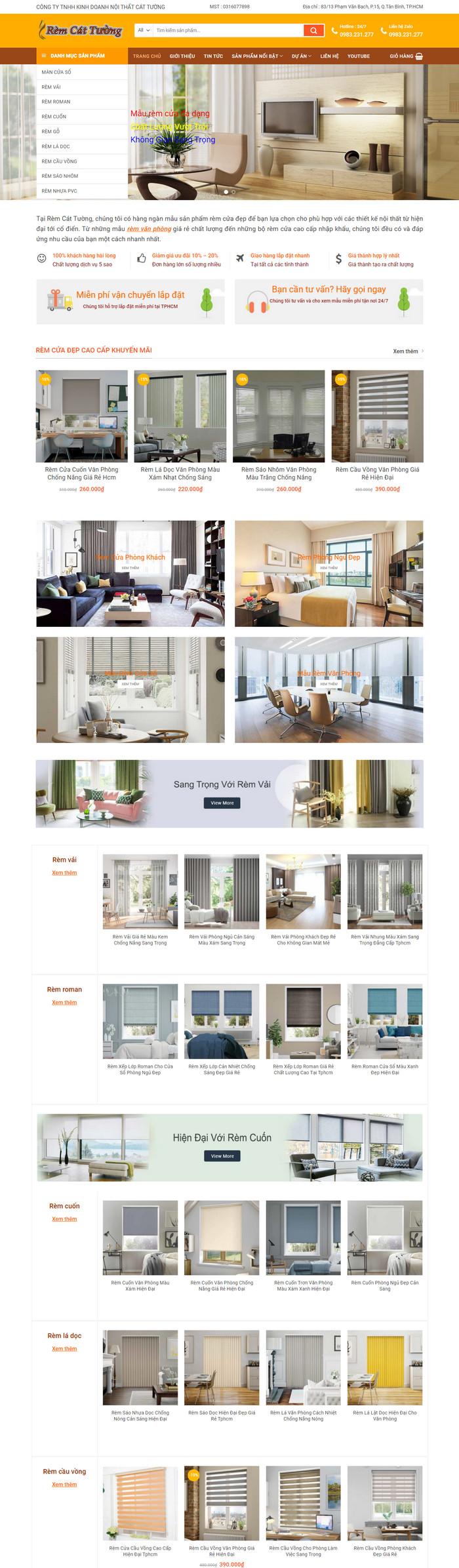 Theme WordPress bán hàng Rèm Cửa Trang Trí M175