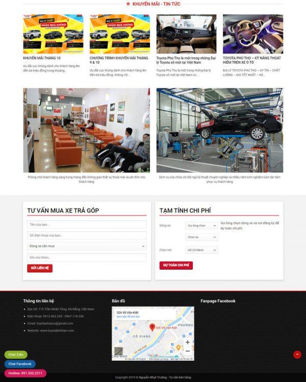 Theme Wordpress bán Xe Toyota M152 hình số 3