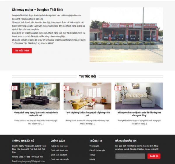Theme Wordpress bán Xe Tải, Xe chở hàng hình số 4