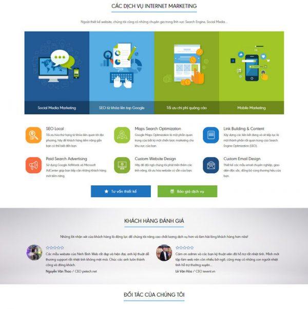 Theme Wordpress Công Ty Dịch Vụ Thiết Kế Web M176 hình 3