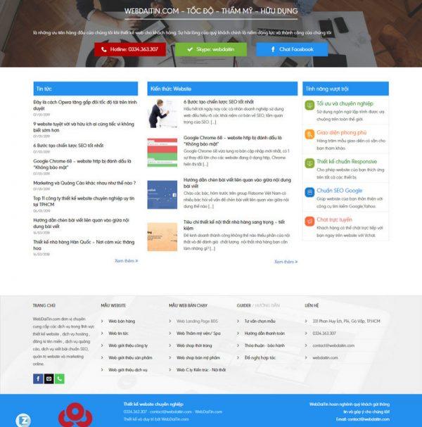 Theme Wordpress Công Ty Dịch Vụ Thiết Kế Web M176 hình 4