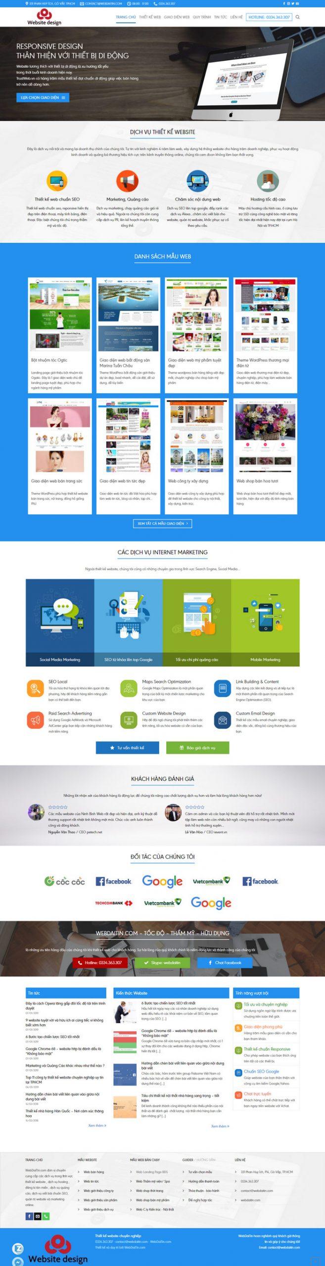 Theme WordPress Công Ty Dịch Vụ Thiết Kế Web M176