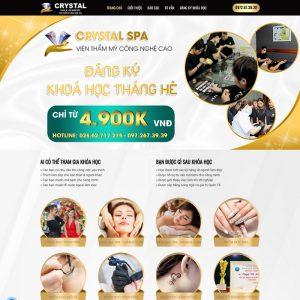Theme WordPress trung tâm Đào Tạo Spa Thẩm Mỹ làm đẹp
