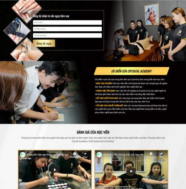 Theme WordPress trung tâm Đào Tạo Spa Thẩm Mỹ làm đẹp hình 3