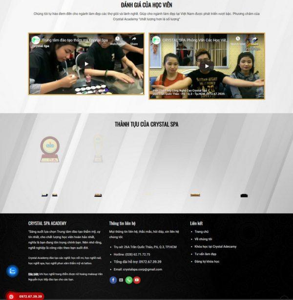 Theme WordPress trung tâm Đào Tạo Spa Thẩm Mỹ làm đẹp hình 4