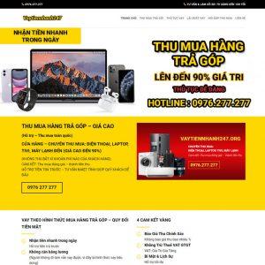 Theme Wordpress dịch vụ Cho Vay Nhanh M162 hình 2