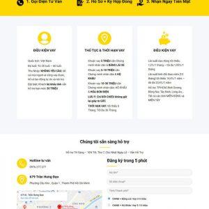 Theme Wordpress dịch vụ Cho Vay Nhanh M162 hình 3
