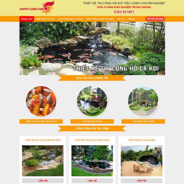 Theme Wordpress dịch vụ Thiết kế Thi Công Hồ Cá Coi M160 hình số 2