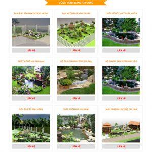 Theme Wordpress dịch vụ Thiết kế Thi Công Hồ Cá Coi M160 hình số 3
