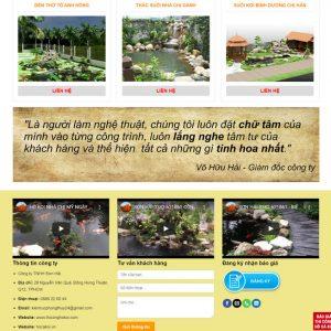 Theme Wordpress dịch vụ Thiết kế Thi Công Hồ Cá Coi M160 hình số 4