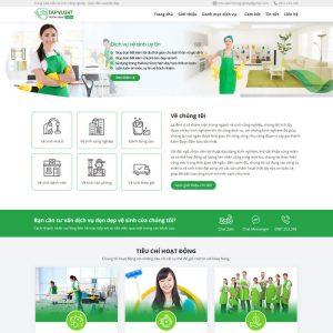 Theme Wordpress công ty Dịch Vụ Vệ Sinh Công Nghiệp