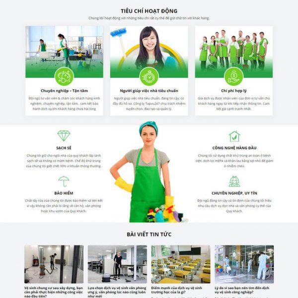 Theme Wordpress công ty Dịch Vụ Vệ Sinh Công Nghiệp hình 2