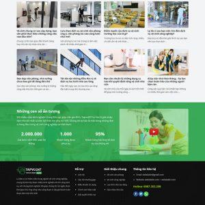 Theme Wordpress công ty Dịch Vụ Vệ Sinh Công Nghiệp hình 3