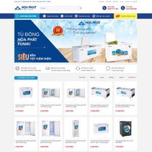 Theme Wordpress bán Điện Lạnh, Điều Hòa, Tủ Lạnh M144 hình số 2