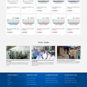 Theme Wordpress bán Điện Lạnh, Điều Hòa, Tủ Lạnh M144 hình số 3