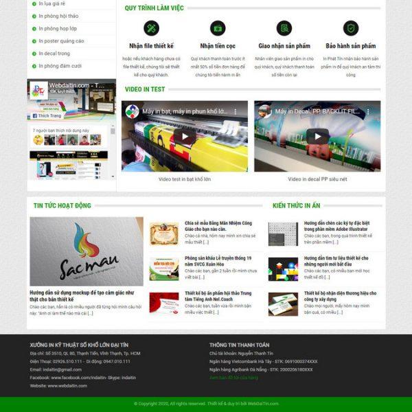 Theme Wordpress dịch vụ In Ấn Quảng Cáo decal hình 2