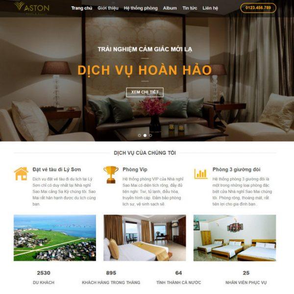 Theme Wordpress Khách Sạn Hotel M126