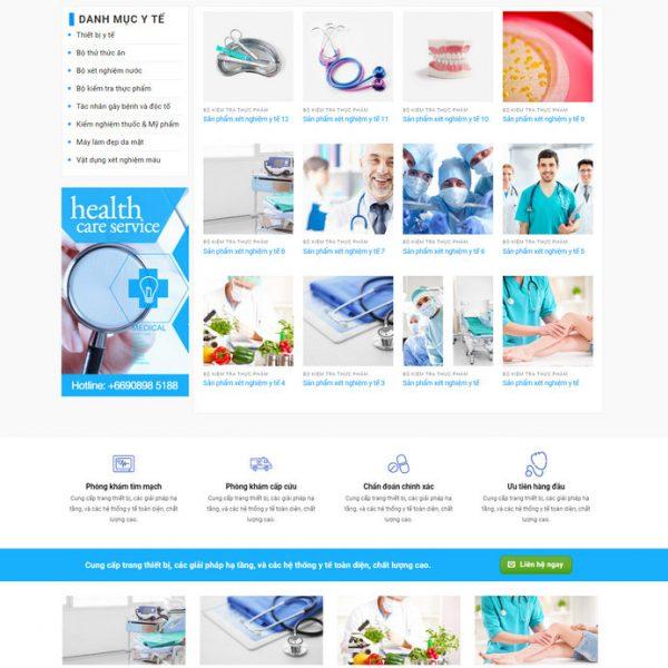 Theme WordPress bán hàng Thiết bị Y tế M129 hình 2