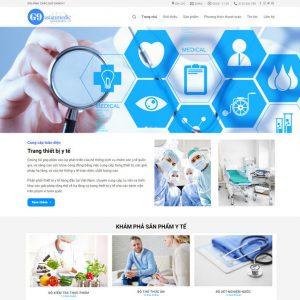 Theme Wordpress bán hàng Thiết bị Y tế M129
