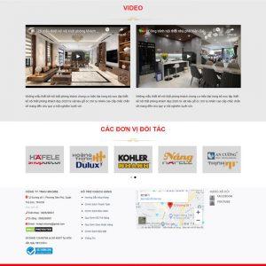 Theme WordPress Thiết kế thi công Nội Thất M127 hình số 3