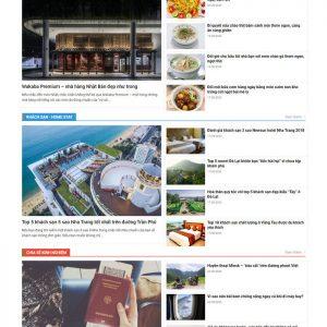 Theme Wordpress Tin Tức Du Lịch, Review Ăn Uống M172 hình 3
