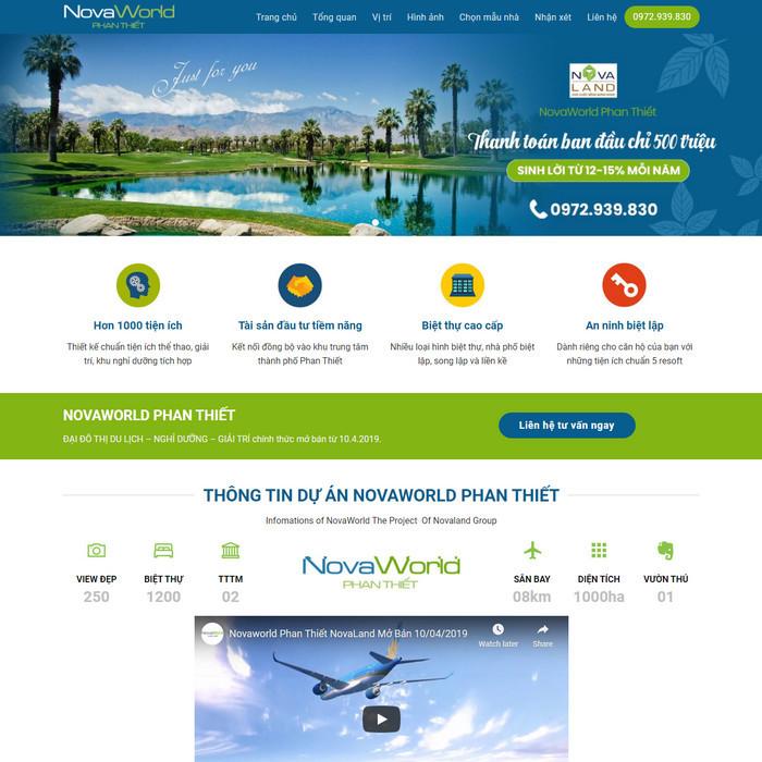 Theme WordPress Landing Page bất động sản M184 hình 2