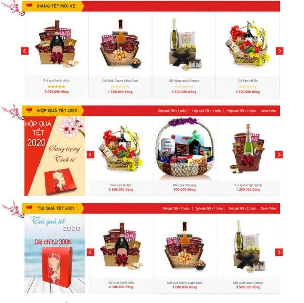 Theme wordpress bán hàng Quà Tết 2021 M190 hình 3