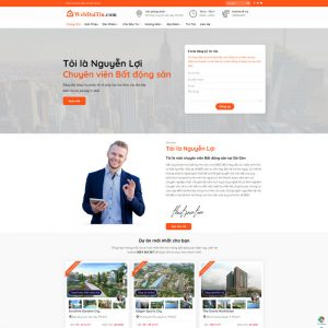 Theme Wordpress Bất Động Sản Cho Chuyên Viên Tư Vấn Cá Nhân M193 hình 2