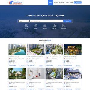 Theme Wordpress Bất Động Sản Cao Cấp Mẫu 90 hình 2