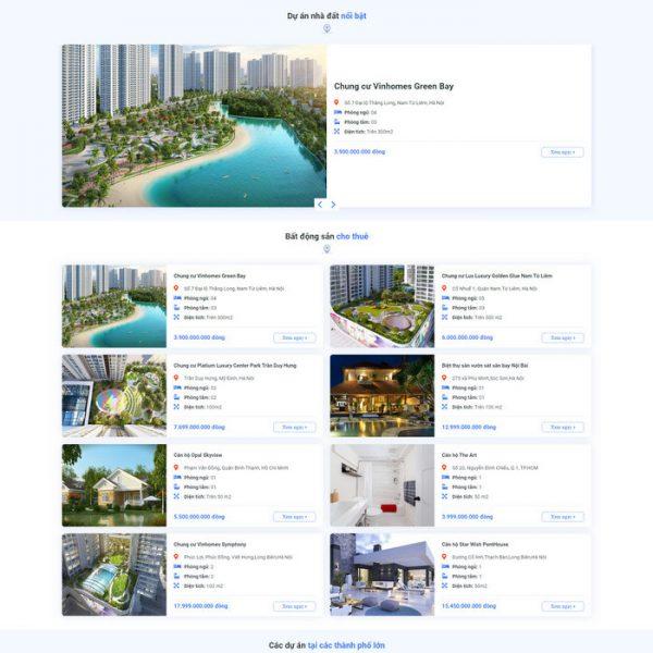 Theme Wordpress Bất Động Sản Cao Cấp Mẫu 90 hình 3