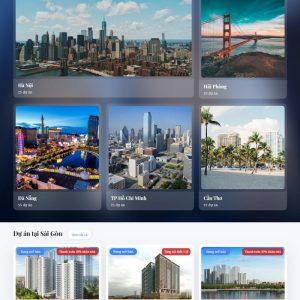 Theme Wordpress Bất Động Sản Cao Cấp Mẫu 92 hình 4