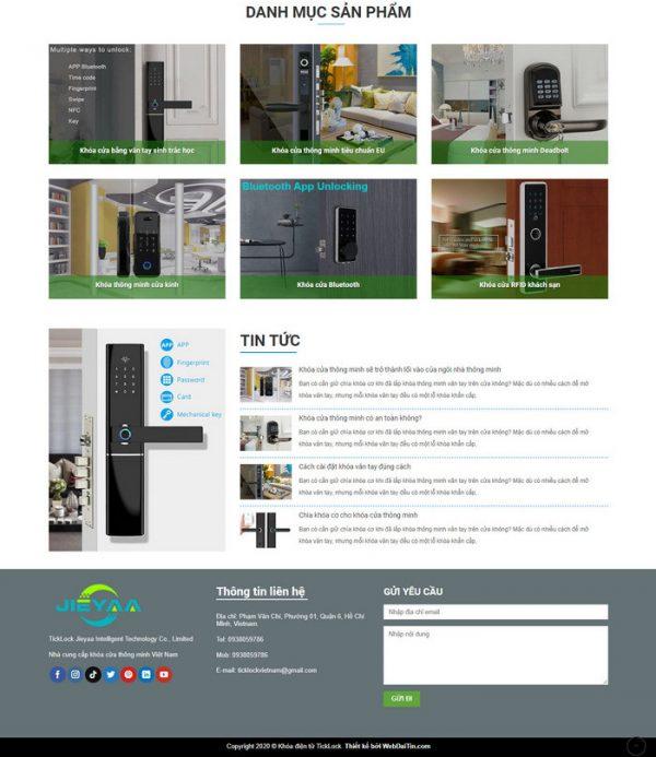 Theme Wordpress giới thiệu sản phẩm Khóa Điện Tử M194 hình 3