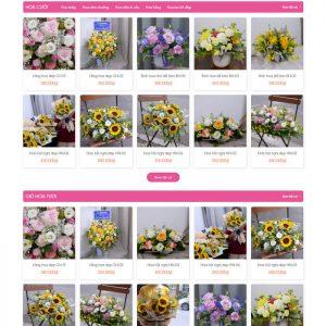 Theme wordpress bán hàng Shop Hoa Tươi M191 hình 3