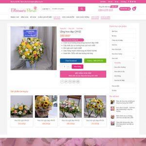 Theme wordpress bán hàng Shop Hoa Tươi M191 hình 4
