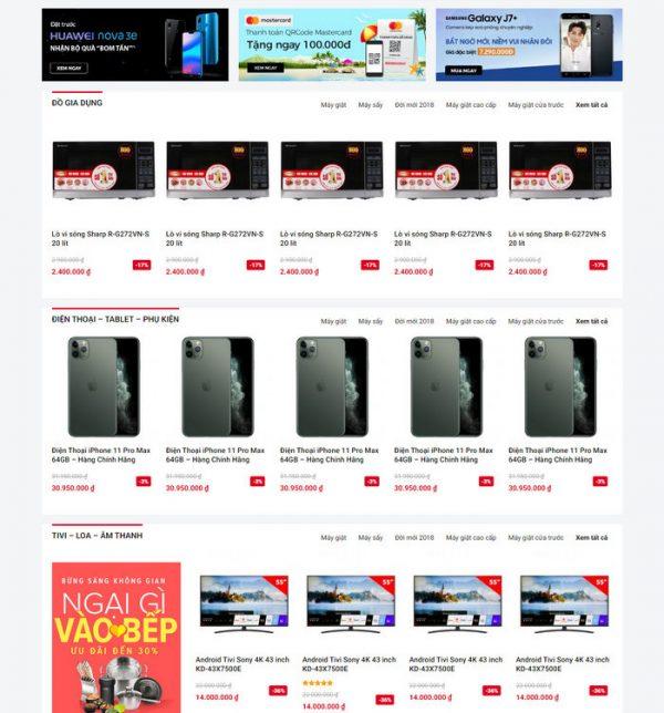 Theme Wordpress bán hàng điện máy mẫu số 4 hình số 3