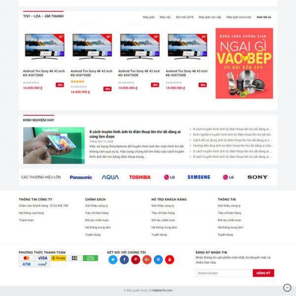 Theme Wordpress bán hàng điện máy mẫu số 4 hình số 4