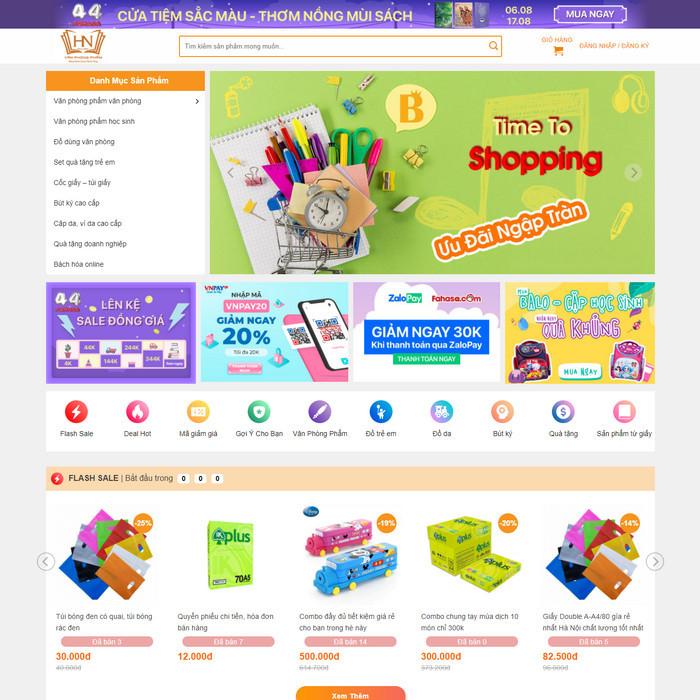 Theme WordPress bán hàng Văn phòng phẩm M208 hình 2