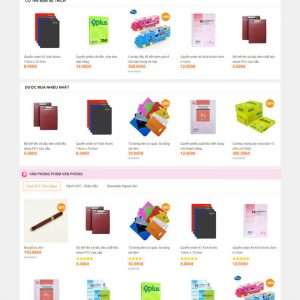 Theme Wordpress bán hàng Văn phòng phẩm M208 hình 4