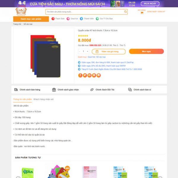 Theme Wordpress bán hàng Văn phòng phẩm M208 hình 3