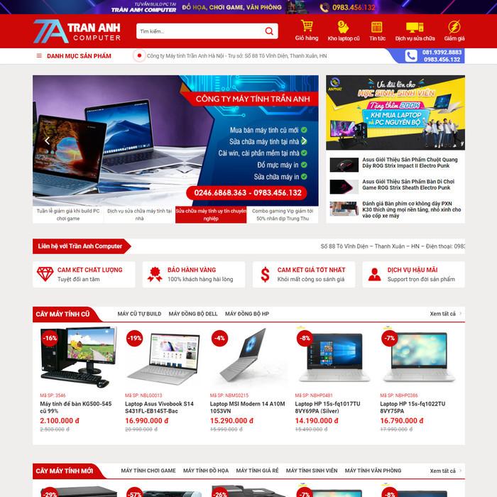 Theme WordPress bán hàng Máy Tính, Máy In, Sửa chữa M204 hình 2